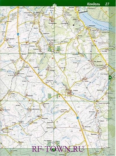 Карта Тамалинского Района