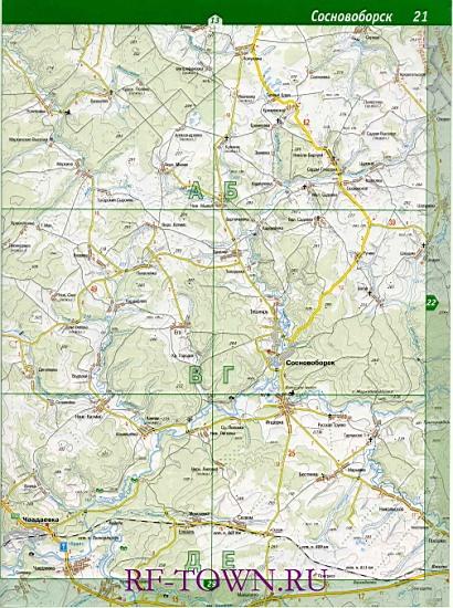 Карта Сосновоборского района.